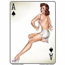 Michael Landefeld Ace of Spades Retro Pin Up Girl Decal Sticker FAST USA SHIP