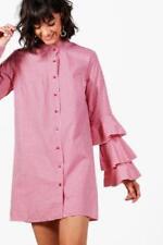 Regular Size Shirt Dresses for Women with Ruffle