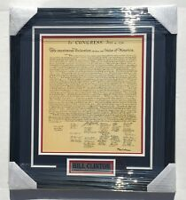PSA President BILL CLINTON Signed Autographed FRAMED Declaration Of Independence
