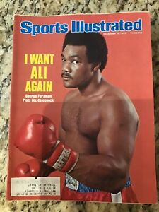 December 15 1975 George Foreman Boxing Sports Illustrated Magazine Vintage