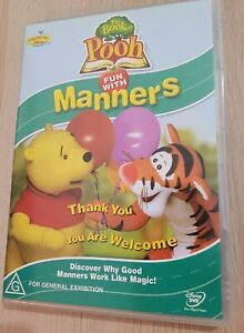 DISNEY The Book of Pooh Fun With Manners DVD Region 4 PAL
