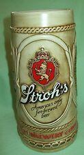 Vintage Stroh's BEER STEIN Ceremarte Brazil       RARE SPELLING ERROR
