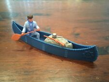 Timpo Trapper - Petrol Blue Canoe - Wild West - 1970's