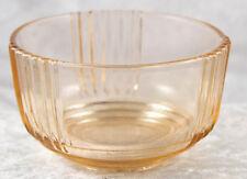"pink glass dressing table ltrinket pot 2"" tall  beauty vintage retro"