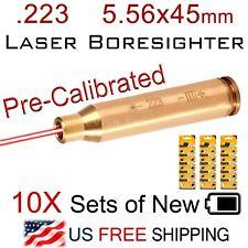 .223 5.56 mm Laser Boresighter 5.56x45 10X Battery In-Chamber Brass Boresight
