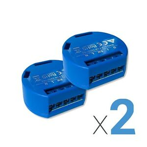 Shelly 1 Relay 2pack, WLAN Relay For smart Home, Alexa, Google, IOS, Android