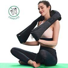 LiBa Cordless Shiatsu Neck Shoulder Back Massager Belt with Heat - Rechargeable