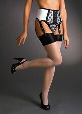 Burlesque Garter -strumpfgürtel by Hand Manufactured, Size M Black/White