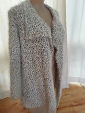 Neutral white Black popcorn soft waterfall cardi cardigan jumper jacket XXL 22