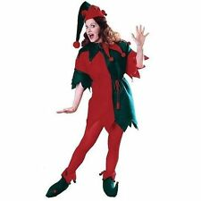 Complete Christmas Elf Helper W/ Tunic Hat Adult Funny Fancy Dress Costumes STD