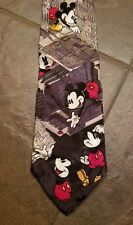 Tie Rack Disney Mickey Mouse in a Computer Tie Made In Italy 100% Silk