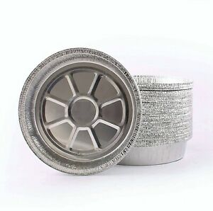 JetFoil Round Aluminum Foil Pans 9-Inch | Disposable Tin Foil Pans with Lid Cove