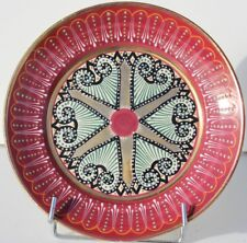 ASSIETTE EN FAIENCE DE QUIMPER - MANUFACTURE HB - DECOR PERLE RICHE - D. 23 cm