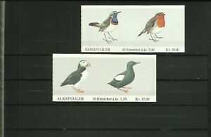Norway, 2 stamp booklets, 1981 / 1982, birds, MNH