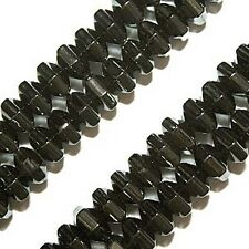 MAGNETIC HEMATITE BEADS 18 FACET HEXAGON CYLINDER BEAD STRANDS 3X4MM MH51