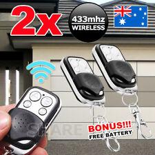 2x Universal Key Fob Remote Control Gate Garage Door Roller Shutter 433mhz