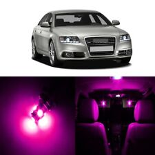 18 x Error Free Pink LED Interior Light For 2005 - 2011 Audi A6 S6 C6 + TOOL