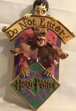 Harry Potter DO NOT ENTER Door Sign Three Head Dog Motion Activated Wall Plaque
