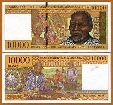 Madagascar, 10000 (10,000) Francs ND (1995), P-79b, UNC