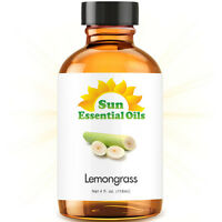 Lemongrass Essential Oil (Large 4oz) 100% Pure Amber Glass Bottle + Dropper