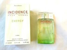 INCIDENCE ENERGY By Yves De Sistelle 3.3oz Eau De Toilette Spray**Very Rare**New