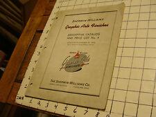 1940 Catalog: SHERWIN-WILLIAMS graphic arts finishes, & price list #4