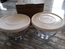 Pampered Chef Mint Condition 3 Cup Prep bowls w/lids (2) FREE SHIPPING #1743