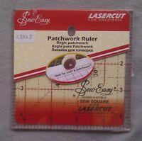 Sew Easy Lasercut Patchwork Ruler 4.5 in x 4.5 in