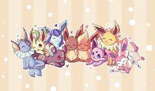 Pokemon GO Eevee Evolutions GENERATIONS Custom Playmat #27 FREE SHIPPING