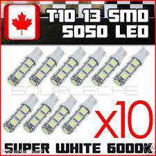 10x Super White T10 Camper 13-SMD 5050 Car Side Wedge LED Light Bulbs exterior