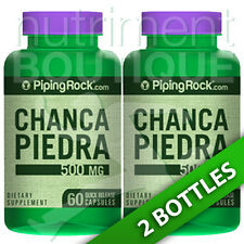 Chanca Piedra 500 Mg (Phyllanthus Niruri) 2X60 Capsules or (1X120) Piping Rock