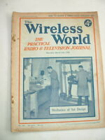 VINTAGE PRE WAR 1938 WIRELESS WORLD MAGAZINES RADIO & TV JOURNAL