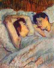 In Bed (2) by Henri de Toulouse Lautrec - Man Woman Girl Boy  8x10 Print 1477