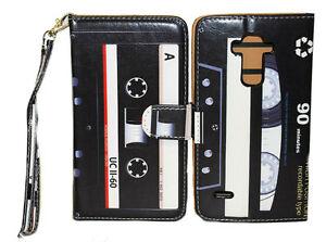 Retro & Classic Cassette Design Wallet Leather Case for LG V10