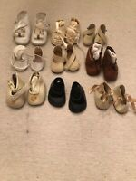 Vintage Doll Shoes Variety Of Sizes And Colors Lot Of 9 Pairs