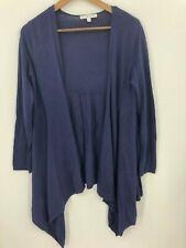 CAbi Women's Style # 160 Dark Purple Open Front Sweater Size XS