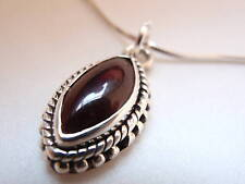 Dainty Garnet Sterling Silver Pendant India New 952