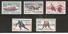 SENEGAL, # 202-206 MNH SPORTS. HORSERACING, WRESTLING