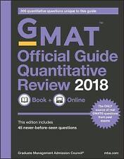 GMAT Official Guide Quantitative Review 2018 by Graduate Management Admission...