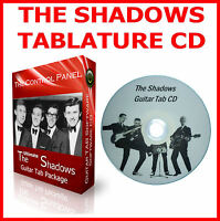 THE SHADOWS BASS & GUITAR TAB CD +TABLATURE SONG BOOK BEST OF GREATEST HITS HANK