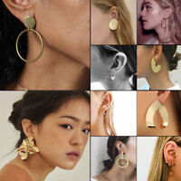 1 Pair Punk Large Circle Geometry Metal Earring Ear Stud Earrings Women Jewelry