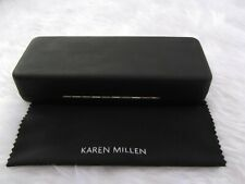Used - Karen Millen black glasses case & cleaning cloth - proceeds to charity