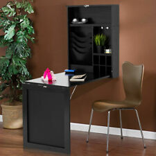 Costway Wall Mounted Table Convertible Desk Fold Out Space Saver Chalkboard