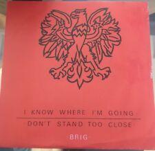 Brig I Know Where I'm Going 45rpm Pic Sleeve Keeper Music Glasgow