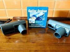 New Boxed Pack Of 2 x Gutter Syphons - Prevents Blockages To Downpipes