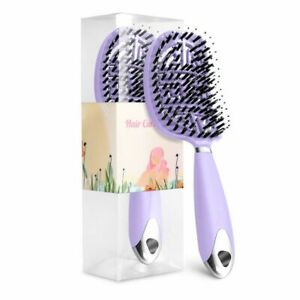 2Pcs Hair Brush Comb Scalp Massage Large Curved Vented Hair Brush For Detangling