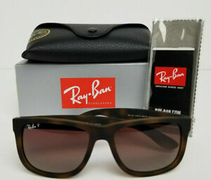 Ray-Ban Justin Polarized Sunglasses (Tortoise/Brown) Rb4165 865/T5 *BRAND NEW*