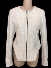 BCBG Jacket OFF WHITE Polyurethane Stitched Size Xs