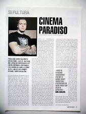 COUPURE DE PRESSE-CLIPPING :  SEPULTURA 2002 Igor Cavalera,Dans le coeur des