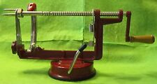 Williams-Sonoma Styled Apple Red Peeler/Corer Vacuum Grip Base to Work Surface